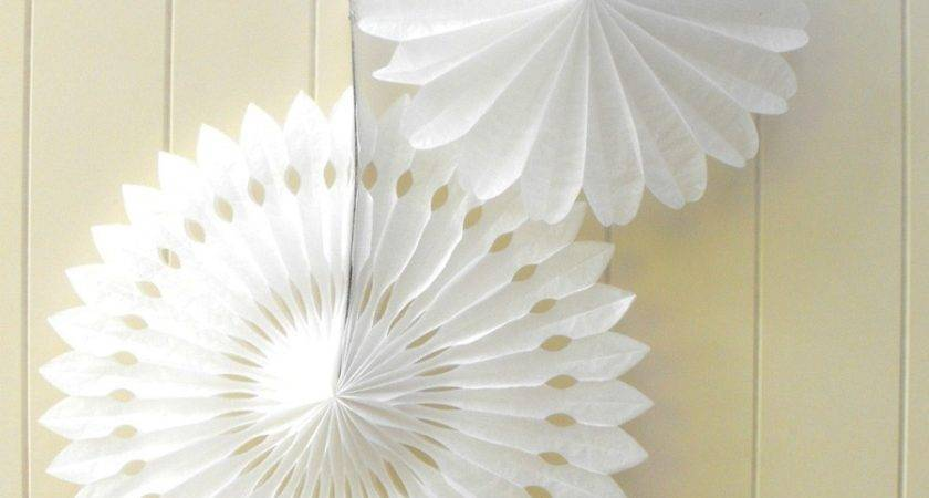 Grey Tissue Paper Hanging Fan Wedding Party