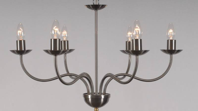 Haconby Arm Wrought Iron Candle Chandelier