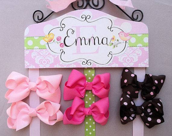 Hair Bow Holder Personalized Sweet Bird Hairbowholders