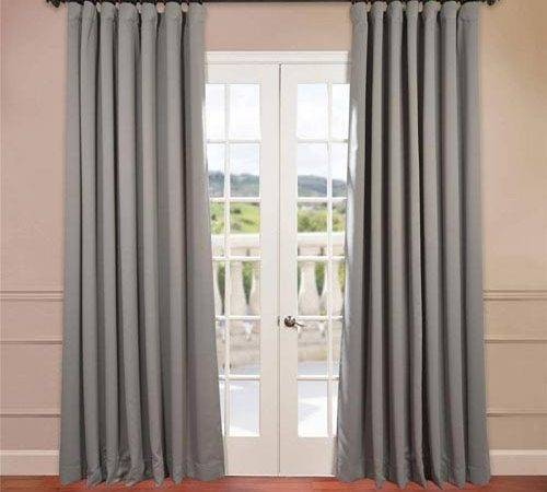 Half Price Drapes Grey Inch Double Wide Blackout
