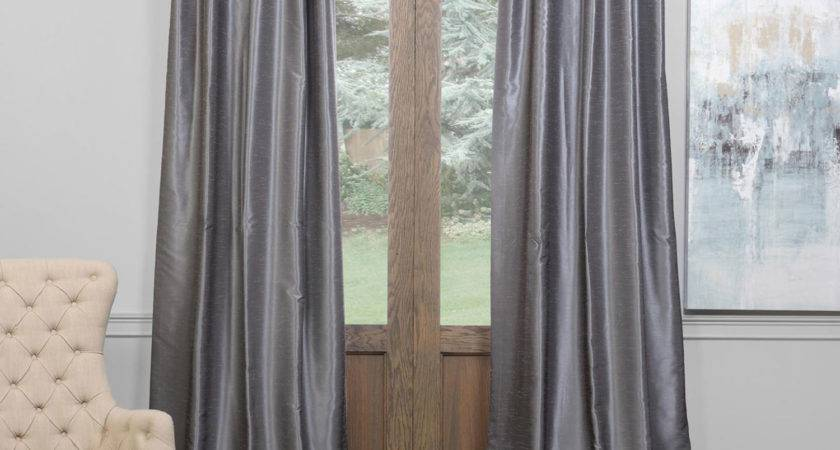Half Price Drapes Storm Gray Inch Blackout