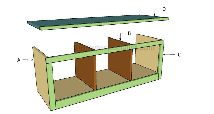 Hall Tree Bench Plans Howtospecialist Build