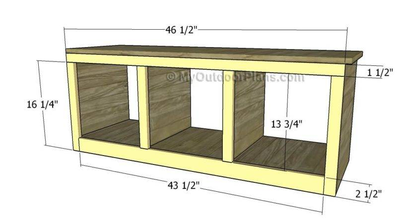 Hall Tree Bench Plans Outdoor Diy Shed