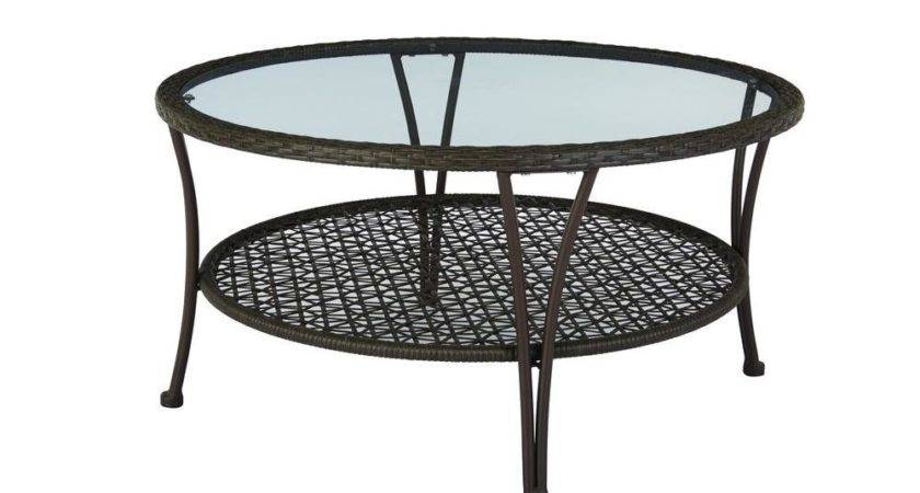 Hampton Bay Arthur All Weather Wicker Patio Coffee Table