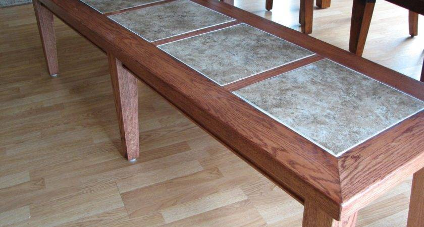 Hand Crafted Inlay Tile Dining Table Bench Stockwell