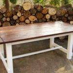 Hand Crafted Reclaimed Wood Trestle Style Farmhouse Table