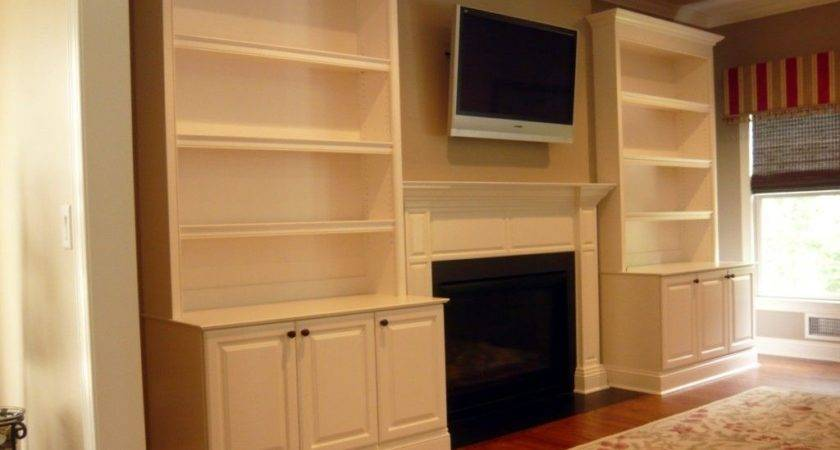 Hand Crafted Traditional Painted Fireplace Built Ins
