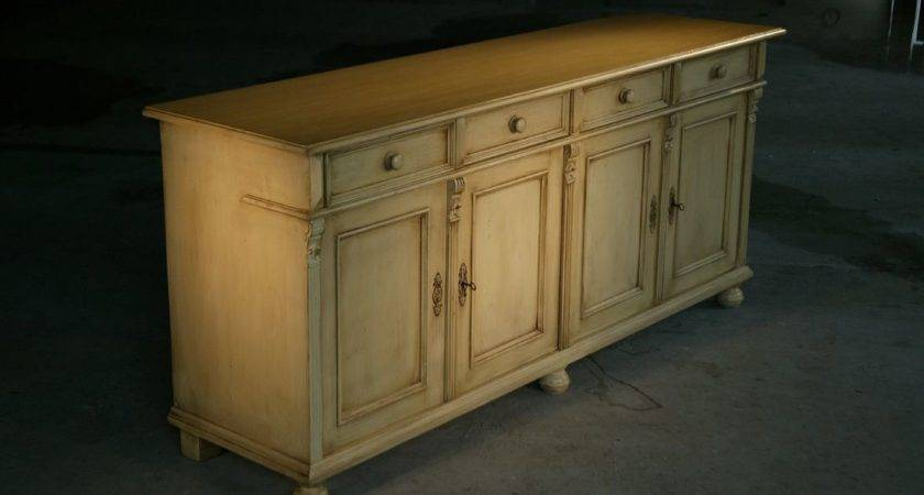 Hand Made Country Style White Kitchen Hutch Buffet
