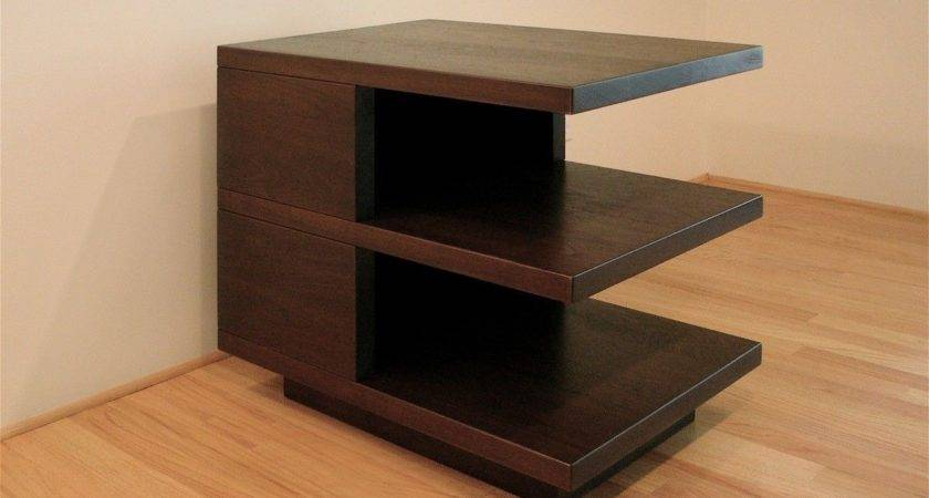 Hand Made Modern Side Table Hefner Woodworking Sorkin