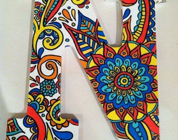 Hand Painted Wooden Letter