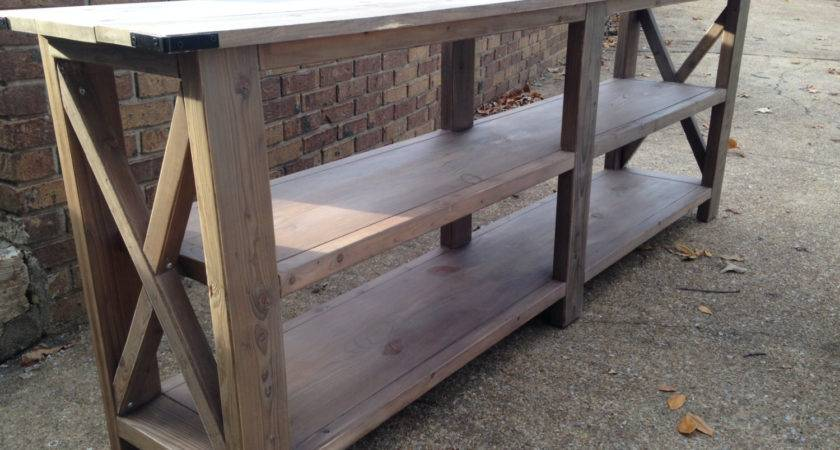 Handcrafted Rustic Wood Console Table