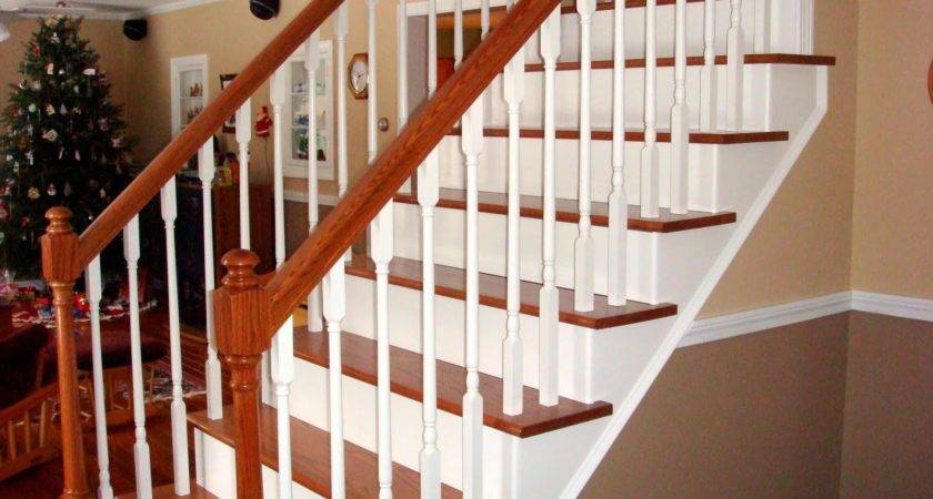 Handy Man Crafty Woman Stairway Remodel Before After