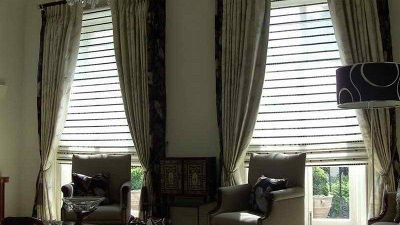 Hang Curtains Blinds Together