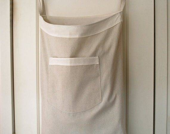 Hanging Hamper Laundry Bag Drawstring Shoulder