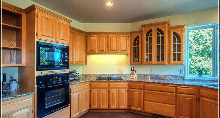 Having Perfect Kitchen Oak Cabinets Inside
