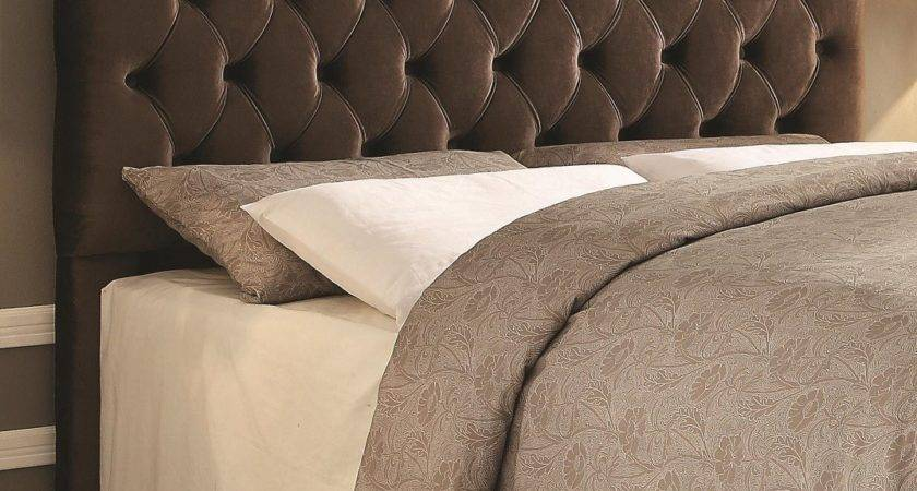 Headingley Brown Upholstered Headboard Andrew