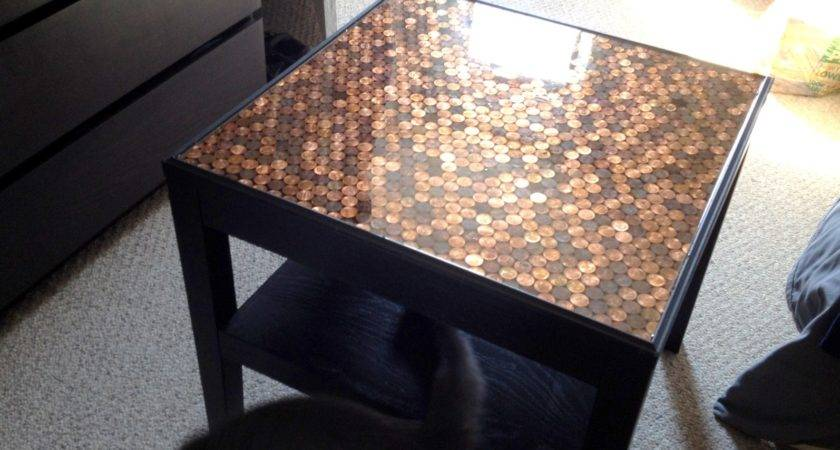 Heart Maine Home Make Penny Top Table Diy