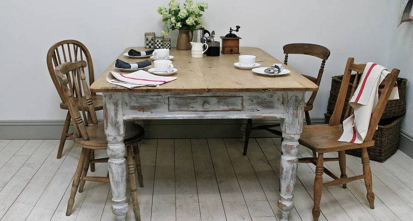 Heavily Distressed Pine Kitchen Table But