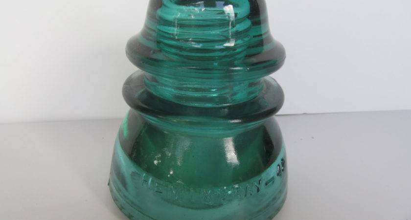 Hemingray Insulators Blue Glass Vintage