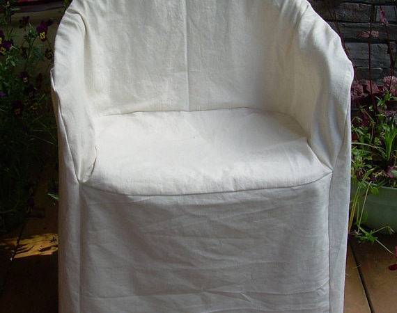 Hemp Cotton Slipcover Outdoor Plastic Chair