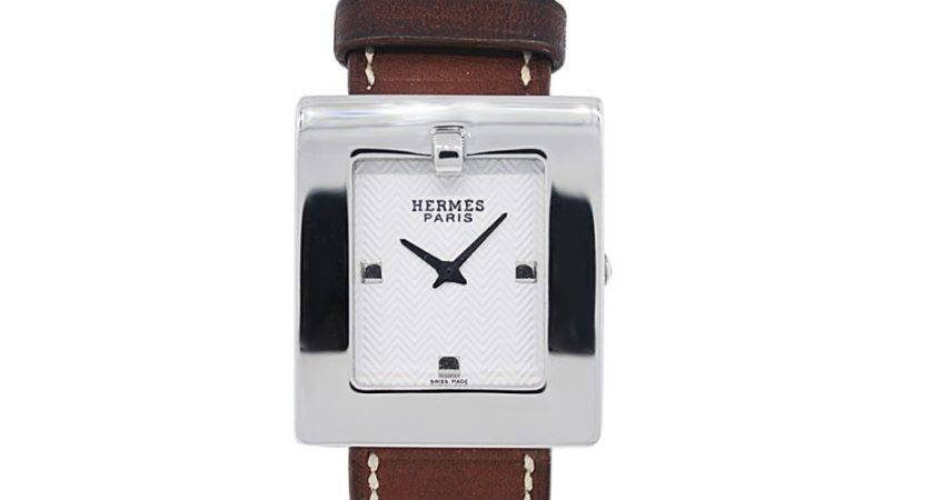 Hermes Stainless Steel Wrap Around Leather Watch