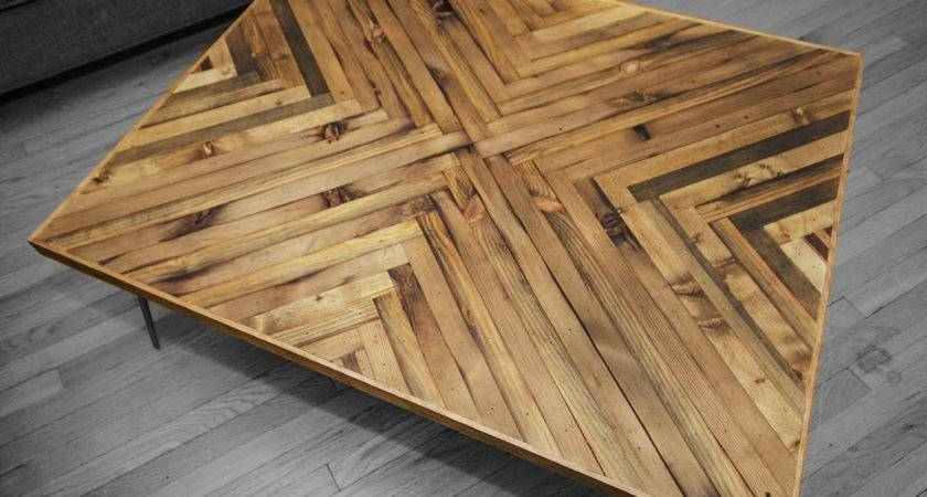 Herringbone Coffee Table Timber