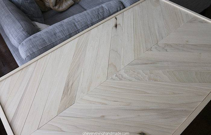 Herringbone Hairpin Leg Coffee Table