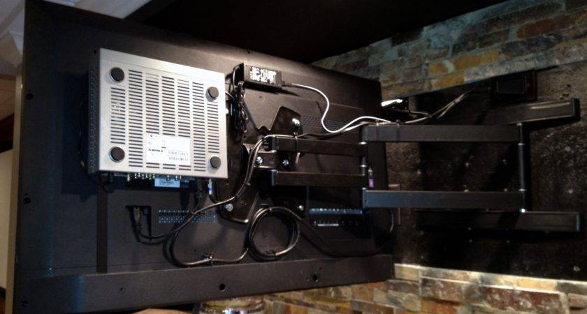 Hide Cable Box Behind Wall Mount Mounts
