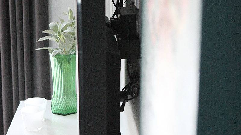 Hide Cables Behind Wall Mounted