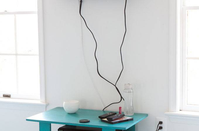 Hide Cords Wall Mounted Own Style