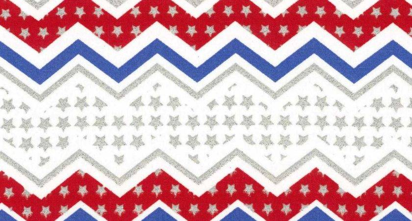 Holiday Inspirations Patriotic Fabric Red White Blue