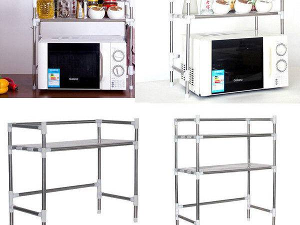 Home Kitchen Microwave Stand Baker Rack Utility Storage