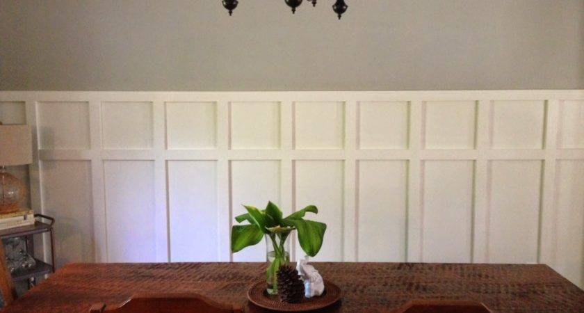 Home Made Modern Square Wainscoting Dining Room