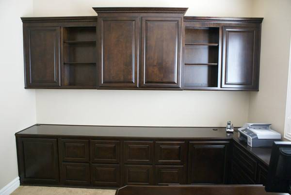 Home Office Desk Cabinets Furniture Library Shelves