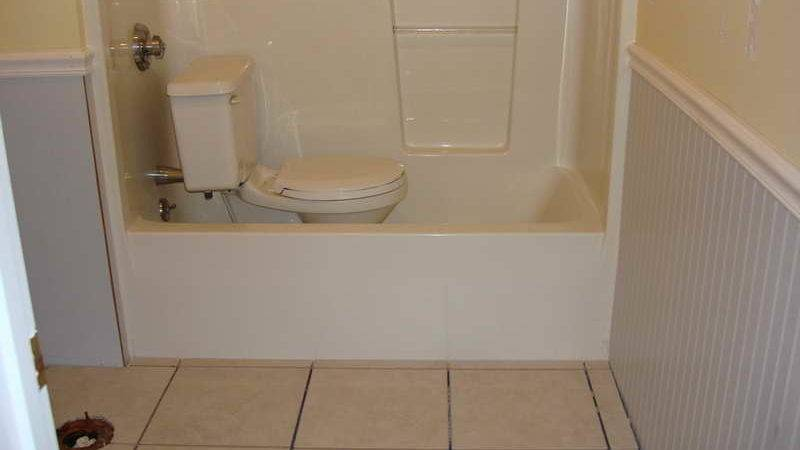 Home Remodeling Master Bathroom Bead Board Wainscoting