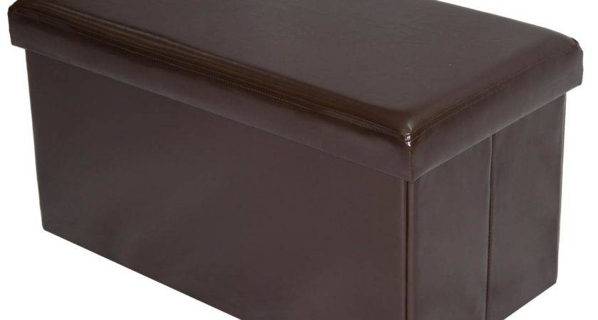 Home Source Folding Storage Ottoman Commerce