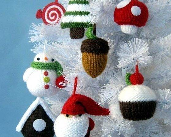 Homemade Knitted Christmas Decorations Home Decorating Ideas