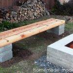Homemade Modern Outdoor Concrete Bench