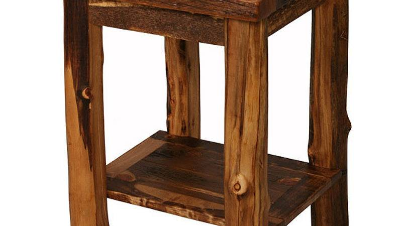 Homestead Rustic Open End Table