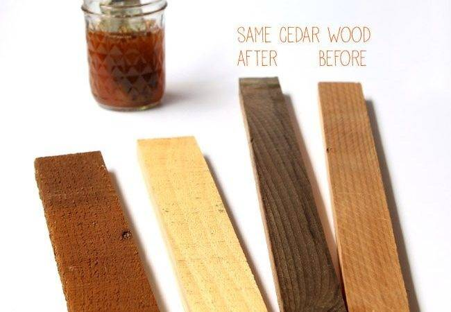 Hometalk Homemade Natural Effective Wood Stains