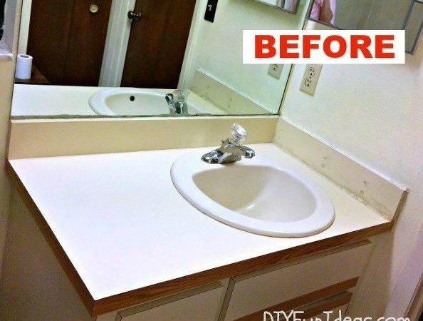Hometalk Super Easy Concrete Overlay Vanity Makeover
