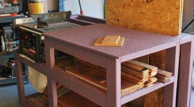 Hometalk Table Saw Workbench Wood Storage