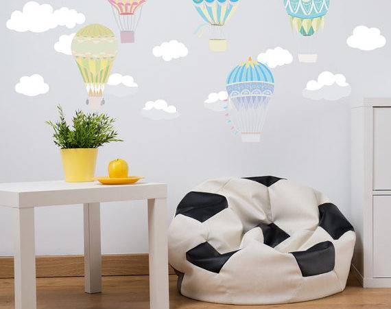 Hot Air Balloon Fabric Wall Decal Peel Stick Removable