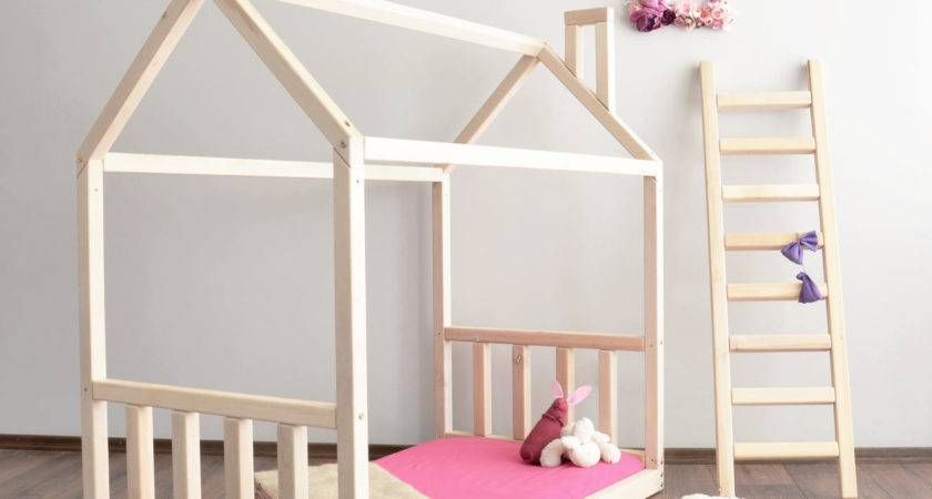 House Bed Frame Toddler Montessori Baby Crib