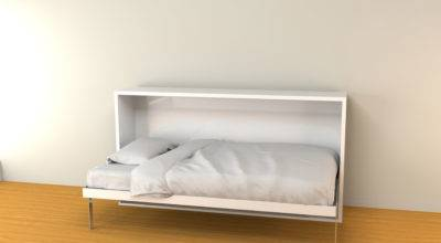 Hover Twin Horizontal Murphy Wall Bed Expand Furniture