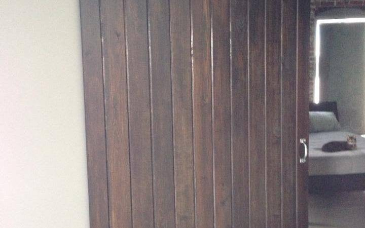 Husband Made Barn Door Out Pine Tongue Groove