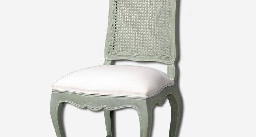 Hyde French Upholstered Seat Cane Back Dining Chair