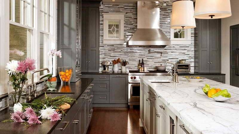 Ideas Grey Kitchen Cabinets Your Home Interior