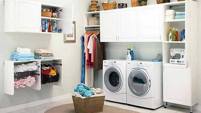 Ideas Laundry Room Small Space Storage Design