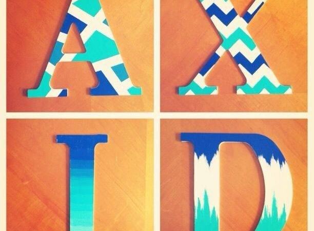 Ideas Painting Wooden Letters Letter Template